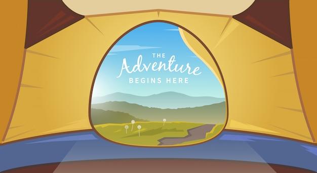 Ilustracja namiot