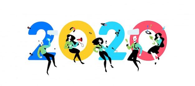Ilustracja napis 2020