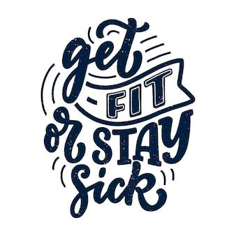 Ilustracja napis fitness