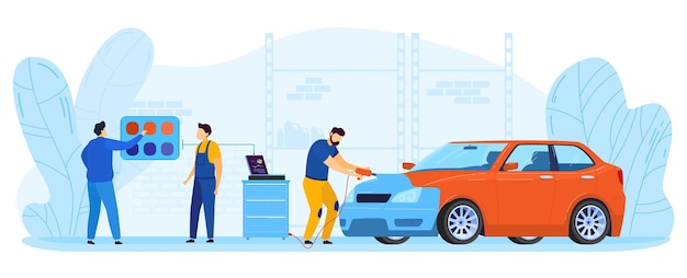 Ilustracja naprawy samochodu