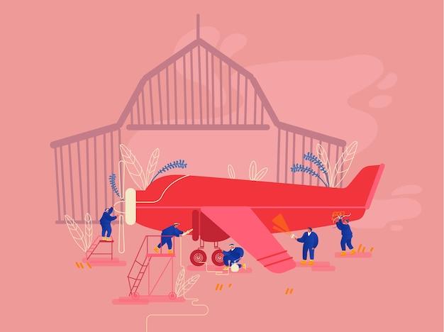 Ilustracja naprawy samolotu