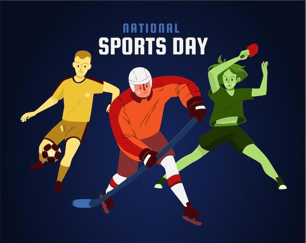 Ilustracja narodowy dzień sportu