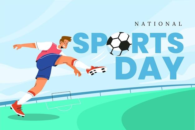 Ilustracja Narodowy Dzień Sportu Darmowych Wektorów