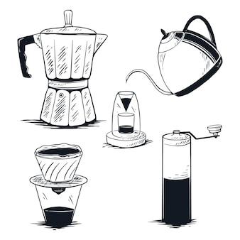 Ilustracja narzędzia do kawy