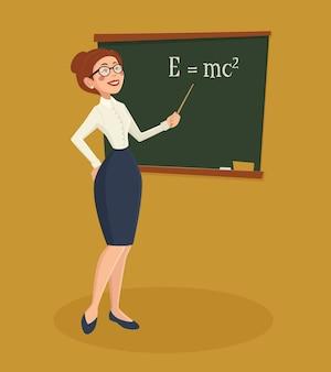 Ilustracja nauczyciel kobieta