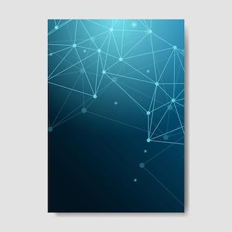 Ilustracja niebieski sieci neuronowej