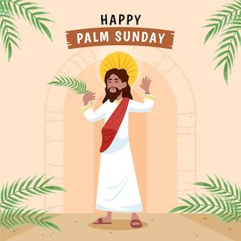 Ilustracja niedziela palmowa rysowane ręcznie