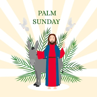 Ilustracja niedziela palmowa