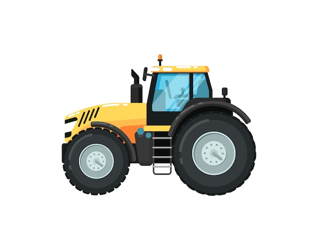 Ilustracja nowoczesnego rolnictwa ciągnika