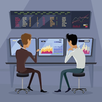 Ilustracja nowoczesnej technologii handlu online.