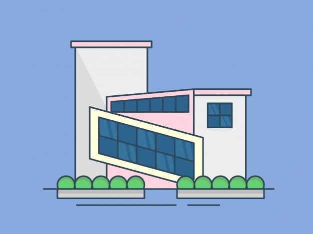 Ilustracja nowoczesny budynek