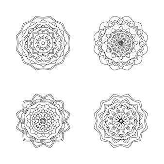 Ilustracja nowoczesny styl mandali