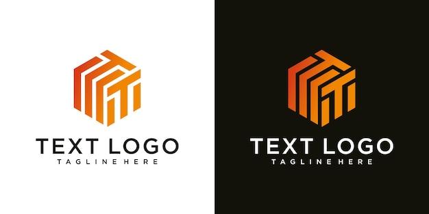 Ilustracja nowoczesny znak litery t luksusowy szablon projektu logo