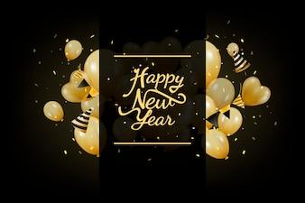 Ilustracja nowy rok dekoracja