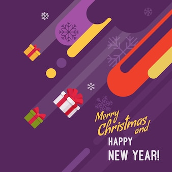 Ilustracja nowy rok i kartki świąteczne