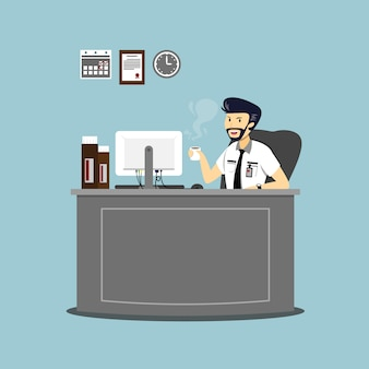Ilustracja o charakterze biznesmena