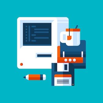 Ilustracja o informatyce i programowaniu