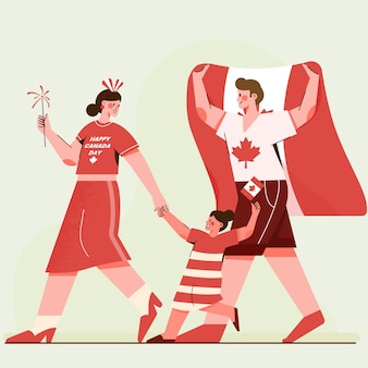 Ilustracja obchody dnia kanady