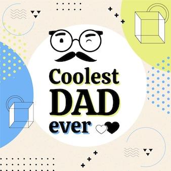 Ilustracja obchody dnia ojca