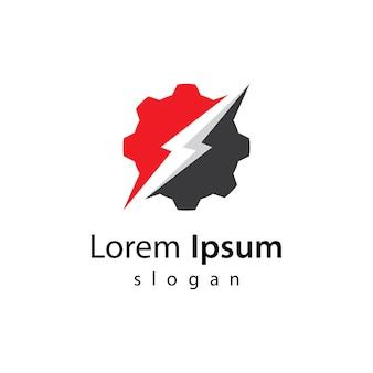 Ilustracja obrazy logo mocy przekładni