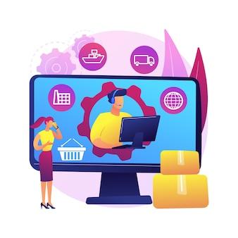 Ilustracja obsługi i realizacji zamówień