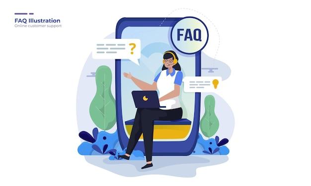 Ilustracja obsługi klienta online