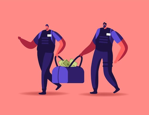 Ilustracja ochrony bankowej