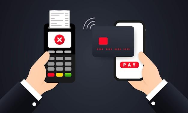 Ilustracja odrzuconej płatności