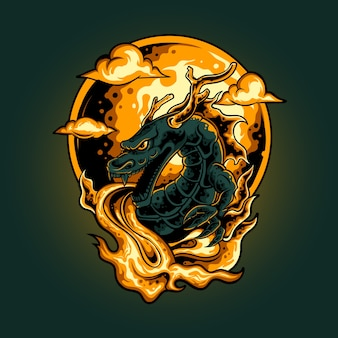 Ilustracja ognia smoka