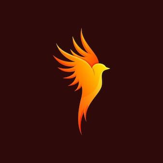 Ilustracja ognisty ptak
