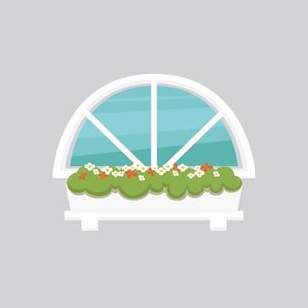 Ilustracja okna wewnętrznego. architektura zewnętrzna lub zewnętrzna, motyw budynku i domu.