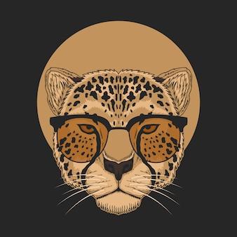 Ilustracja okulary gepard