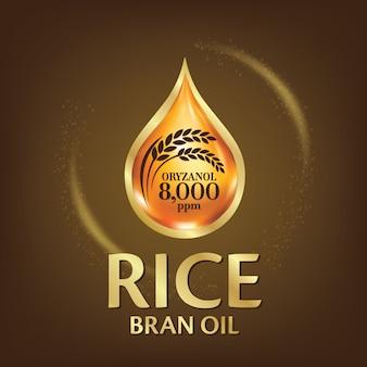 Ilustracja oleju z otrębów ryżowych.