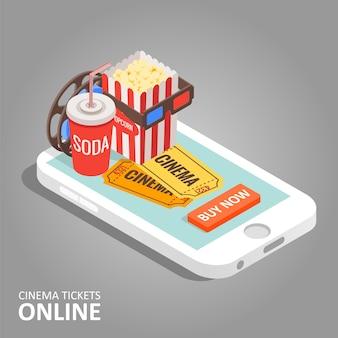 Ilustracja online biletów do kina