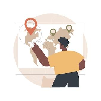 Ilustracja optymalizacji wyszukiwania lokalnego