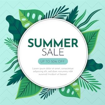 Ilustracja organiczne płaskie lato sprzedaż