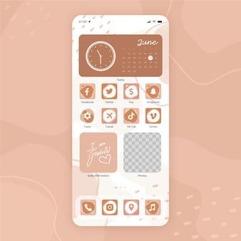 Ilustracja organiczny ekran główny
