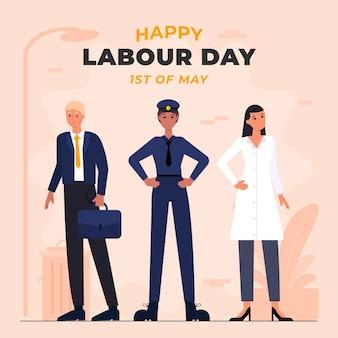 Ilustracja organiczny płaski dzień pracy
