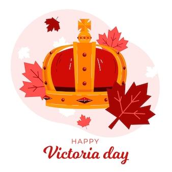 Ilustracja organiczny płaski kanadyjski dzień wiktorii