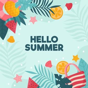 Ilustracja organiczny płaski lato