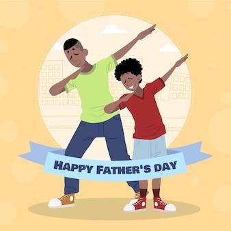 Ilustracja organiczny płaski szczęśliwy ojciec dzień