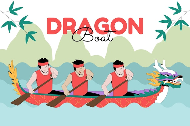Ilustracja organicznych płaskich smoczych łodzi