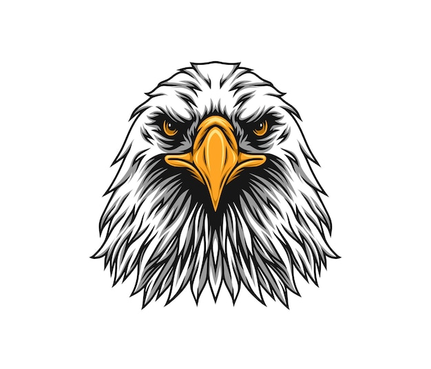 Ilustracja orła w obliczu