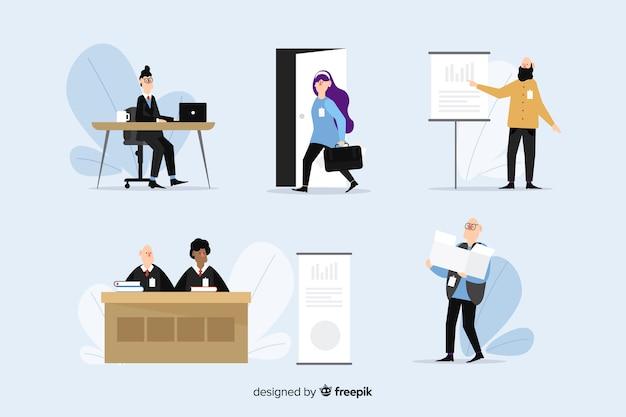 Ilustracja osób pracujących w biurze