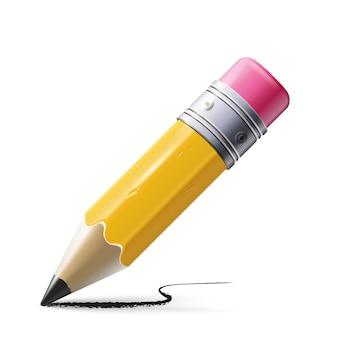 Ilustracja ostry ołówek na białym tle