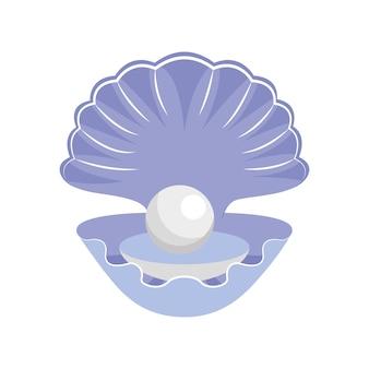 Ilustracja ostrygi na białym tle
