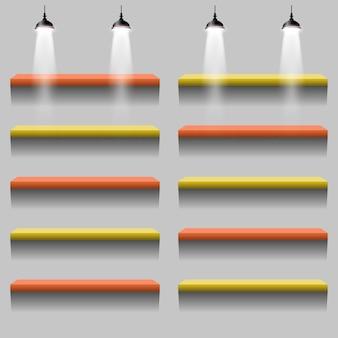 Ilustracja oświetlenia stojaka koloru wnętrza