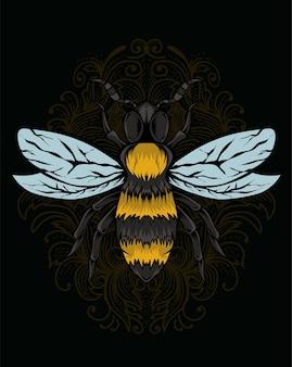 Ilustracja owad pszczoły