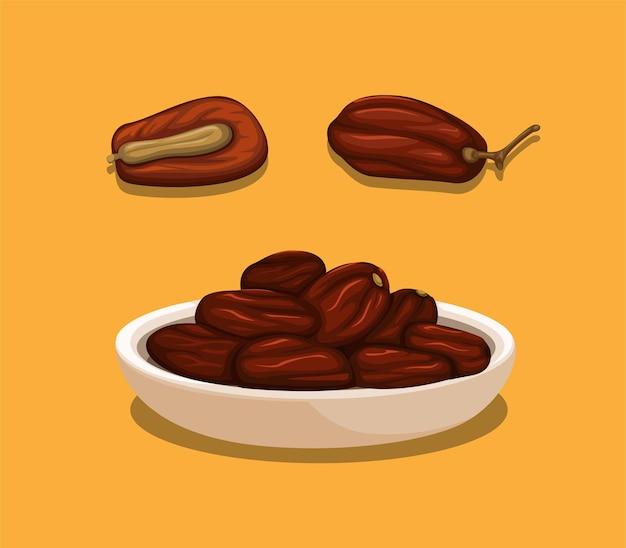 Ilustracja owoce daty