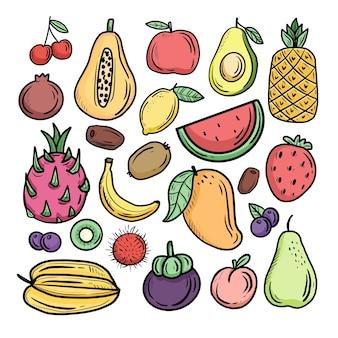 Ilustracja owoców tropikalnych